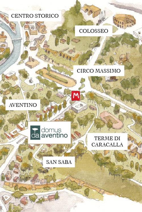Mappa Domus Aventino